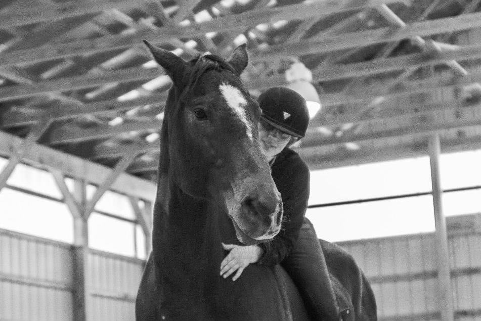 Hugging my Heart Horse