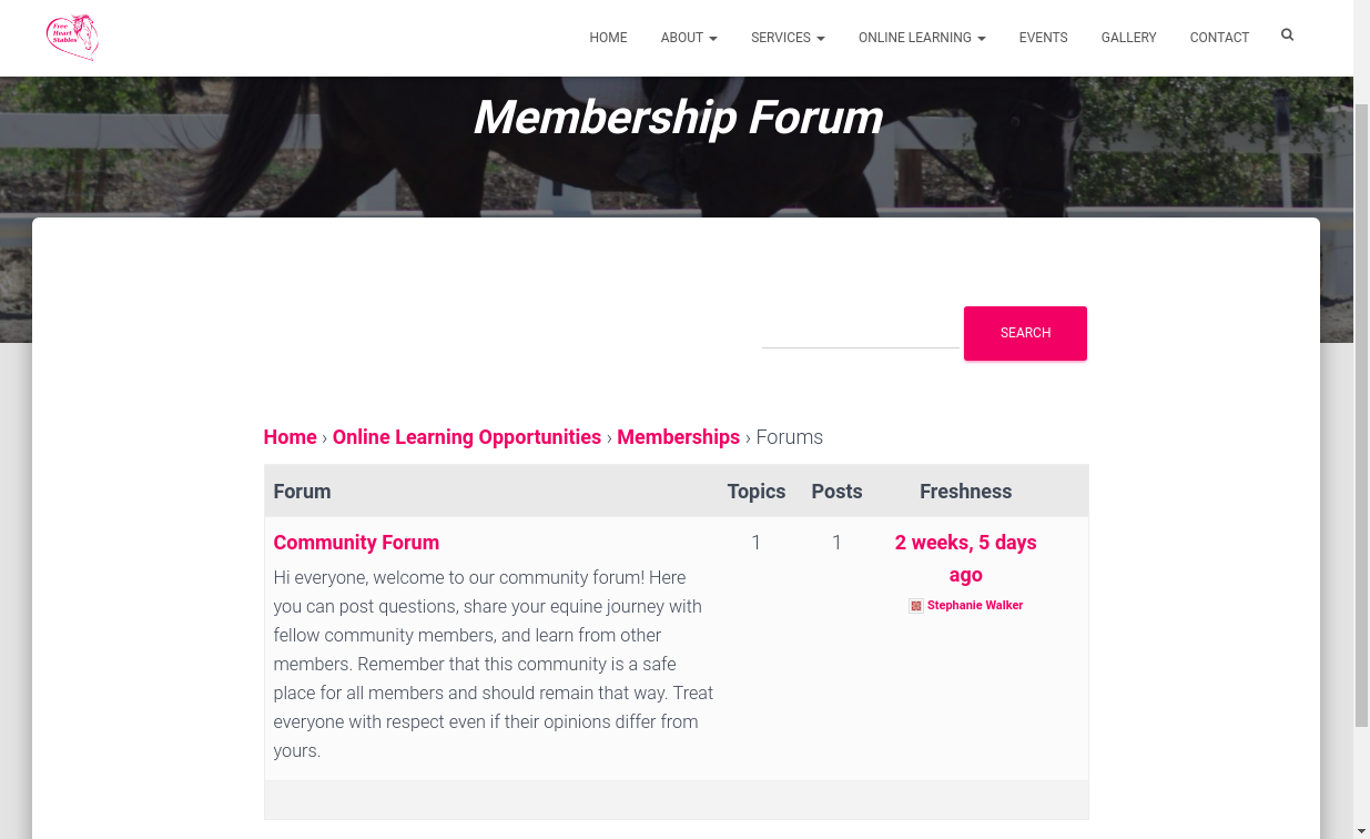 Community Forum - Main Page