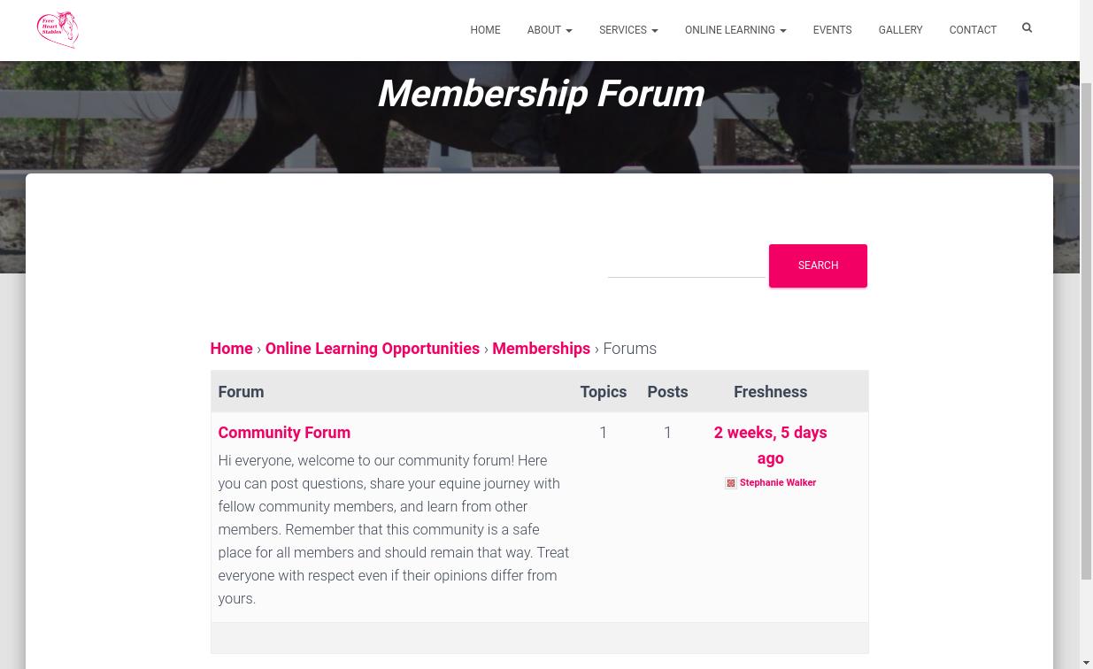 Community Forum - Main Page
