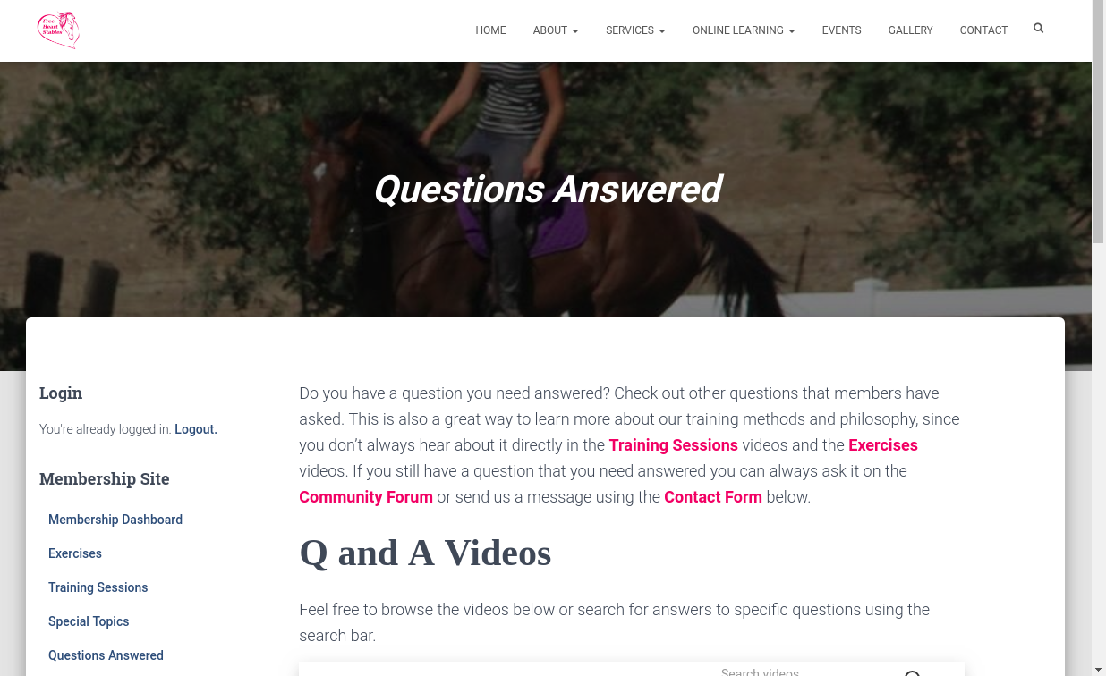 Questions Answered Page - Top of Page