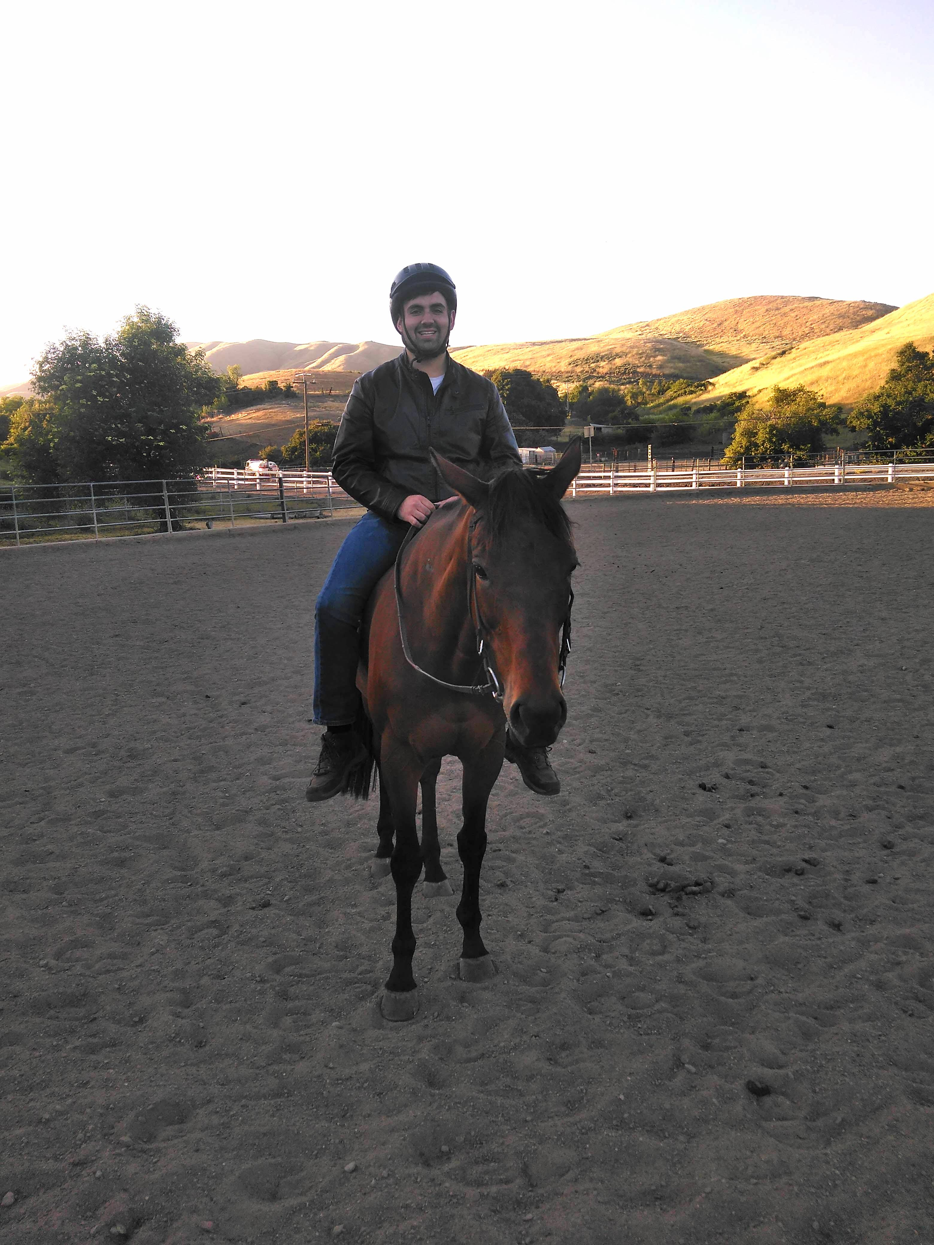 Mark riding Lucy
